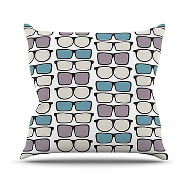 KESS InHouse Spectacles Geek Chic Throw Pillow; 26'' H x 26'' W
