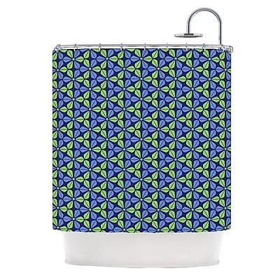 KESS InHouse Infinite Flowers Shower Curtain; Blue