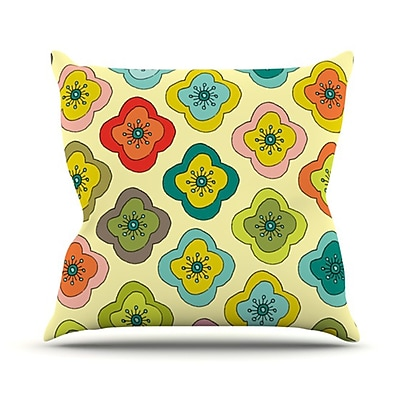 KESS InHouse Forest Bloom Throw Pillow; 18'' H x 18'' W