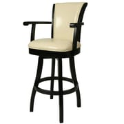 Impacterra Glenwood 30'' Swivel Bar Stool; Cream