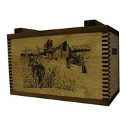 Evans Sports Standard Storage Box w/ Barnyard Buck Print