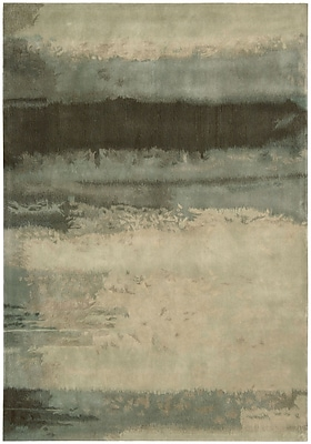 Calvin Klein Rugs Luster Wash Hand Woven Wool Beryl Wash Light Green Area Rug; Rectangle 8'3'' x 11'