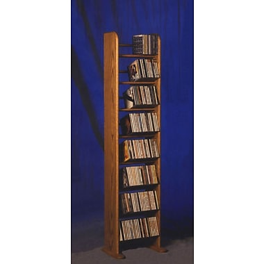 Wood Shed 800 Series 208 CD Backless Dowel Multimedia Storage Rack; Natural