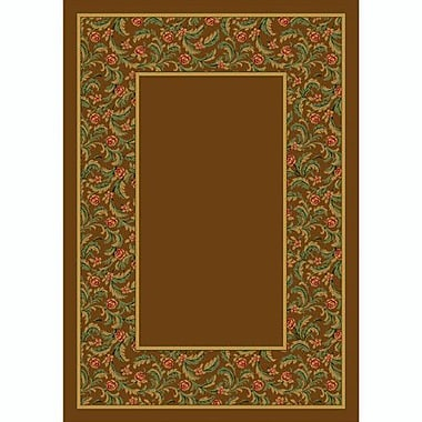 Milliken Design Center Nutmeg Latin Rose Area Rug; Runner 2'4'' x 11'8''