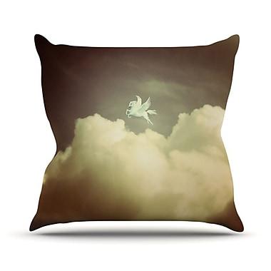 KESS InHouse Pegasus Throw Pillow; 18'' H x 18'' W