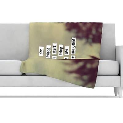 KESS InHouse Her Life Fleece Throw Blanket; 60'' L x 50'' W WYF078275777181