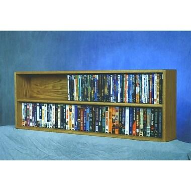 Wood Shed 200 Series 176 DVD Multimedia Tabletop Storage Rack; Natural