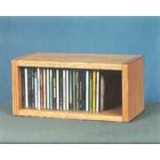Wood Shed 100 Series 32 CD Multimedia Tabletop Storage Rack; Dark