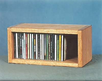 Wood Shed 100 Series 32 CD Multimedia Tabletop Storage Rack; Unfinished