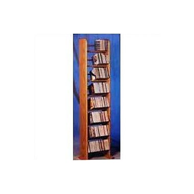 Wood Shed 800 Series 208 CD Backless Dowel Multimedia Storage Rack; Clear