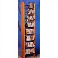 Wood Shed 800 Series 208 CD Backless Dowel Multimedia Storage Rack; Clear