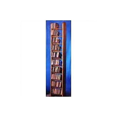 Wood Shed 1000 Series 260 CD Backless Dowel Multimedia Storage Rack; Dark