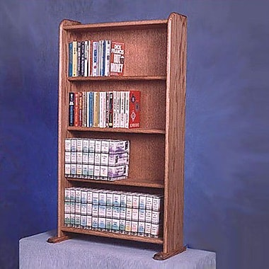 Wood Shed 400 Series 160 DVD Multimedia Storage Rack; Unfinished