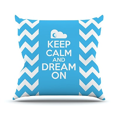 KESS InHouse Keep Calm Throw Pillow; 26'' H x 26'' W