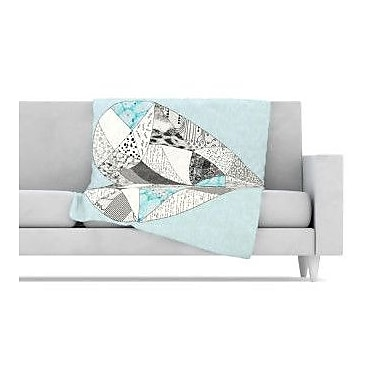 KESS InHouse Comheartment Fleece Throw Blanket; 80'' L x 60'' W