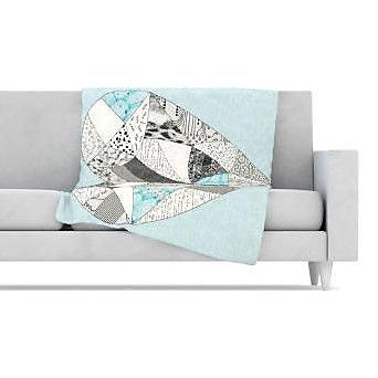 KESS InHouse Comheartment Fleece Throw Blanket; 60'' L x 50'' W