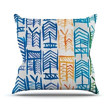 KESS InHouse Quiver II Throw Pillow; 18'' H x 18'' W