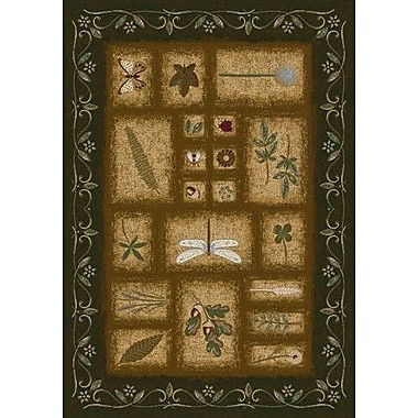 Milliken Signature Meadow Olive Area Rug; Rectangle 5'4'' x 7'8''