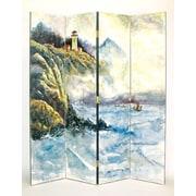 Wayborn 72'' x 64'' High Seas 4 Panel Room Divider