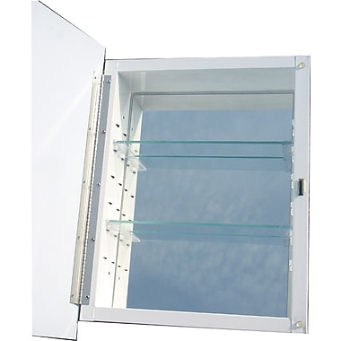 American Pride Raised Panel 16'' x 20'' Recessed Medicine Cabinet
