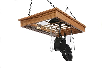 Laurel Highlands Woodshop Hanging Pot Rack w/ Lights