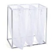 The Bag Stand Co Triple Laundry Sorter; Chrome