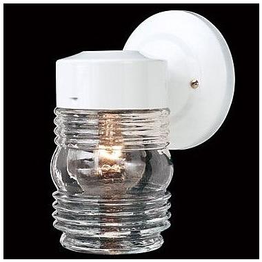 Thomas Lighting 1-Light Outdoor Sconce; White