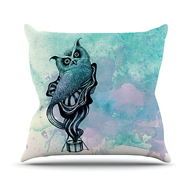 KESS InHouse Owl II Throw Pillow; 18'' H x 18'' W x 4.1'' D