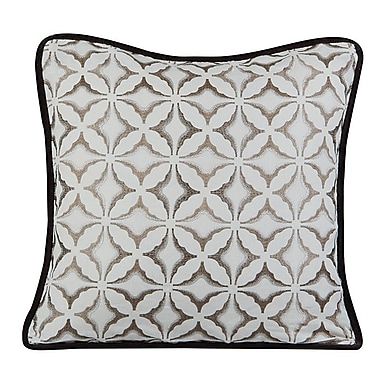Gracious Living Frost Throw Pillow; Ivory