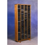 Wood Shed 400 Series 320 CD Multimedia Storage Rack; Natural