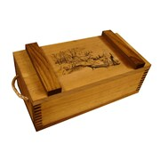Evans Sports Wooden Crate w/ Running Deer Print