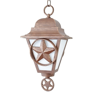 Melissa Americana 1-Light Outdoor Hanging Lantern; Rusty Nail