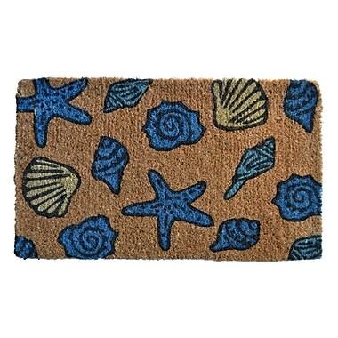 Imports Decor Creel Sea Shells Doormat; Rectangle 30'' x 18''
