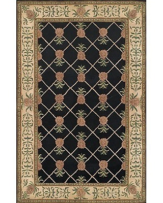 American Home Rug Co. Cape May Black / Ivory Area Rug; 7'6'' x 9'6''