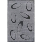 American Home Rug Co. Casual Contemporary Grey / Black Le Cirque Area Rug; 8' x 11'