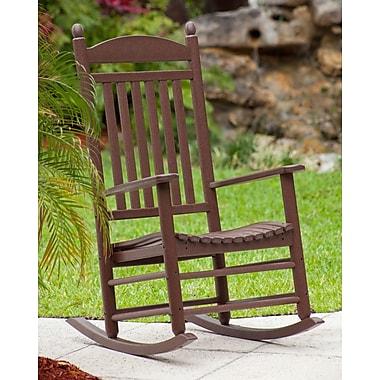 POLYWOOD Jefferson Rocking Chair; Mahogany