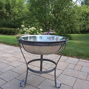 Oakland Living 20'' Stainless Steel Ice Bucket w/ Stand