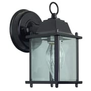 Sunset Lighting 1-Light Outdoor Wall Lantern; Black