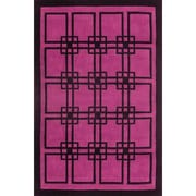 American Home Rug Co. Modern Living Omni Purple/Black Rug; 8' x 11'
