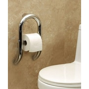HealthCraft Invisia Toilet Paper Dispenser and Integrated Support Rail; Brushed Stainless