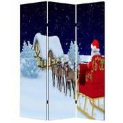Screen Gems 72'' x 48'' Christmas 3 Panel Room Divider