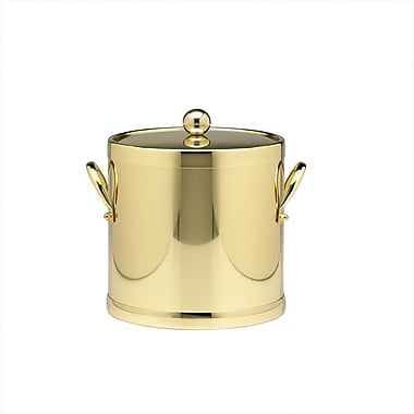 Kraftware Americano 3 Qt. Ice Bucket w/ Side Handle in Brass