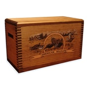 Evans Sports Wooden Accessory Box w/ ''Wildlife Series'' Turkey Print