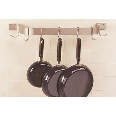 A-Line by Advance Tabco Wall Mounted Single Bar Pot Rack; 2'' H x 60'' W x 8.5'' D