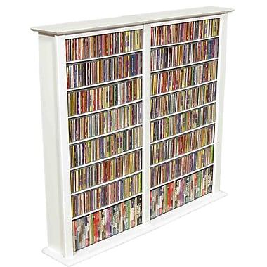 Venture Horizon VHZ Entertainment Regular Double Multimedia Storage Rack; White