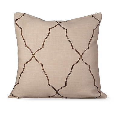 Gracious Living Mesmerize Burlap Throw Pillow; Wheatish