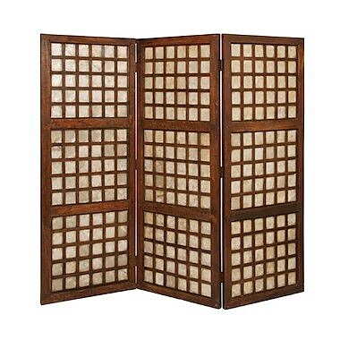 Screen Gems 66'' x 70'' Capice Square Screen 3 Panel Room Divider