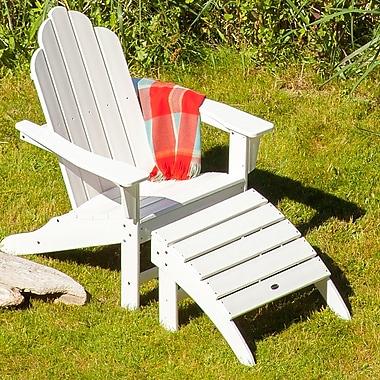 POLYWOOD Long Island Adirondack 2 Piece Chair Set
