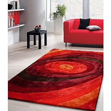Rug Factory Plus Living Shag Shades of Red Rug; 7'6'' x 10'2''