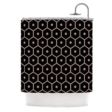KESS InHouse Tiled Mono Shower Curtain